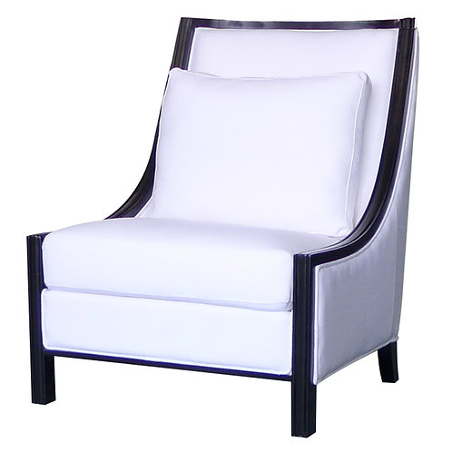 White Resort Armchair Angle View