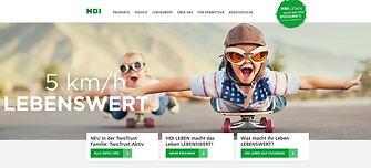 HDI LEBEN Website