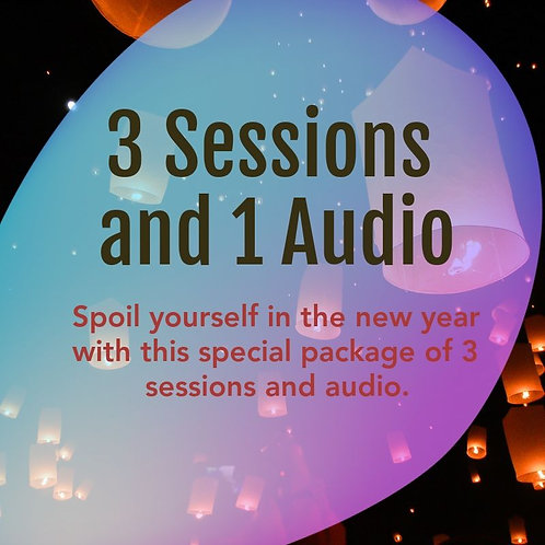 3 Sessions + 1 Audio Package