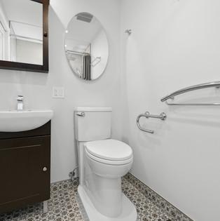 Accessible bathroom transformation