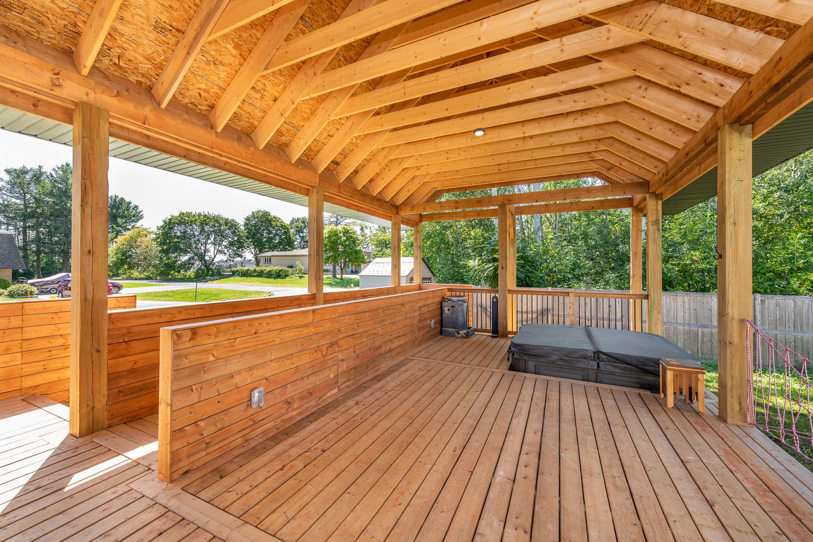 Custom deck addition, ramp and therapeutic hot tub