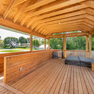 Covered deck & integrated ramps