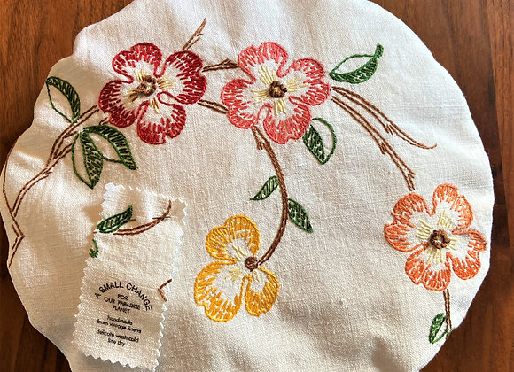 Fall Blossoms Pie and Bowl Cover