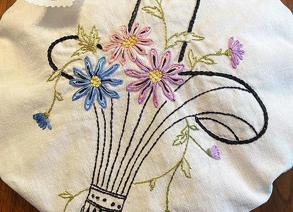 Flower Basket Pie Cover