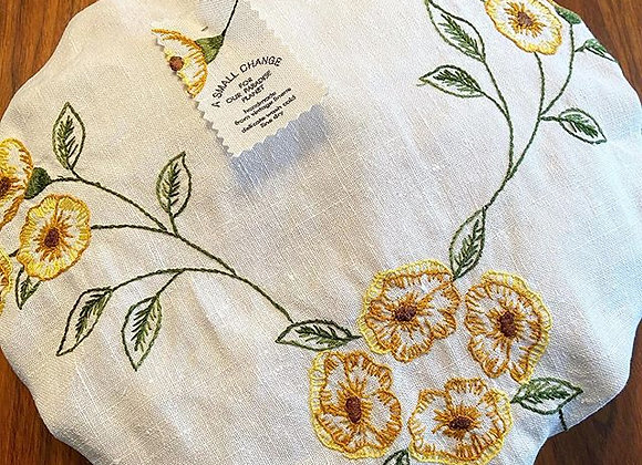 Golden Poppies Pie and Bowl Cover