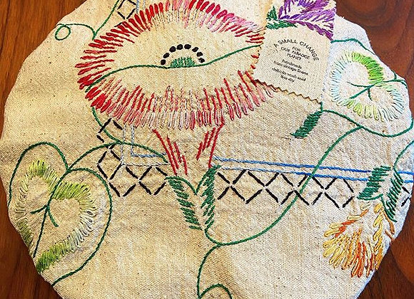 Feathered Floral Pie Cover
