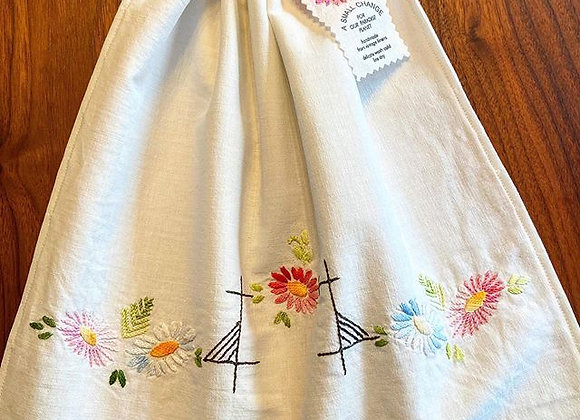 Bevy of Embroidered Flowers Produce/Bread Bag