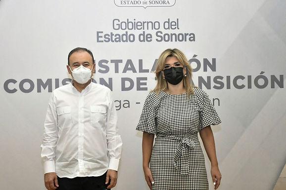 Inician periodo de transición Claudia Pavlovich y Alfonso Durazo