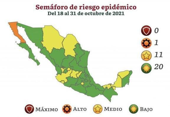 Sonora pasa a verde en el Semáforo Epidemiológico Nacional