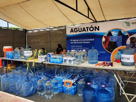 "Apoyan a Seris con ""Aguatón"", tienen más de un año sin agua potable"