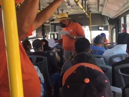 Acusan sindicalizados del transporte de Hermosillo, agresión durante volanteo