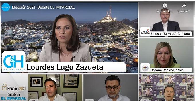 Debaten cinco de los seis aspirantes a la Gubernatura de Sonora
