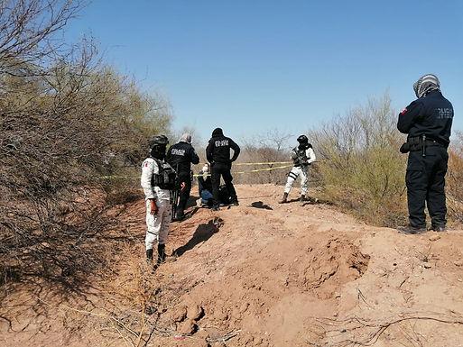 Localizan fosas con restos calcinados en Ortiz, municipio de Guaymas