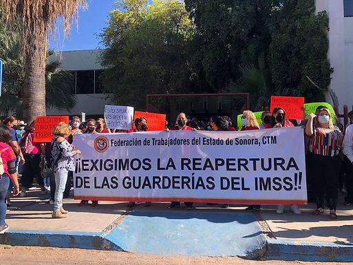 Exigen madres de familia y trabajadoras la reapertura de Guarderías en Sonora