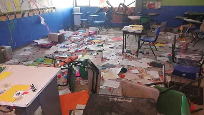 Escuelas vandalizadas estarán listas en el corto plazo: Claudia Pavlovich