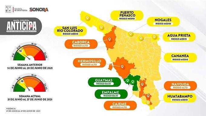 Hermosillo pasa a naranja por aumento de casos de covid-19