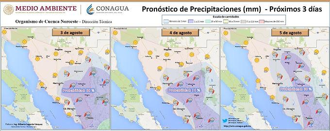 Continuarán posibilidades de lluvias y altas temperaturas en Sonora