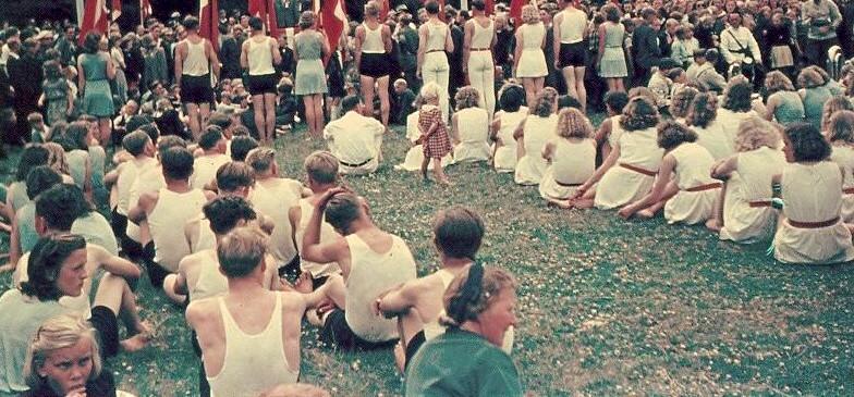 Gymnastikstævne i Floes Skov 1940-1947