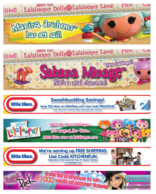 Banner Advertising, Toy Brands