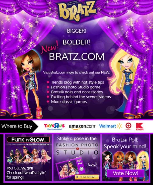 Bratz.com E-Mail Blast