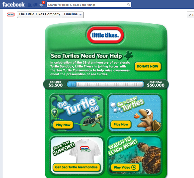 Little Tikes® Sea Turtle Campaign