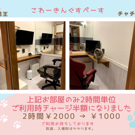 Co working space がお値打ちになりました。