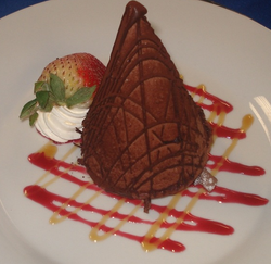 Individual Volcano Mousse Cake
