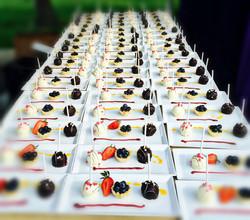 Custom Plated Trio Dessert