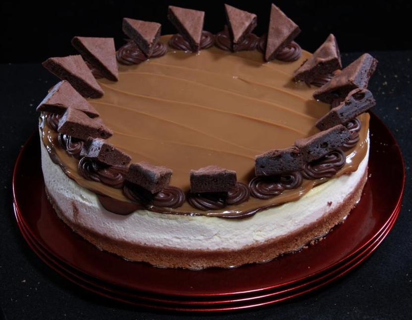 Brownie Caramel Cheesecake