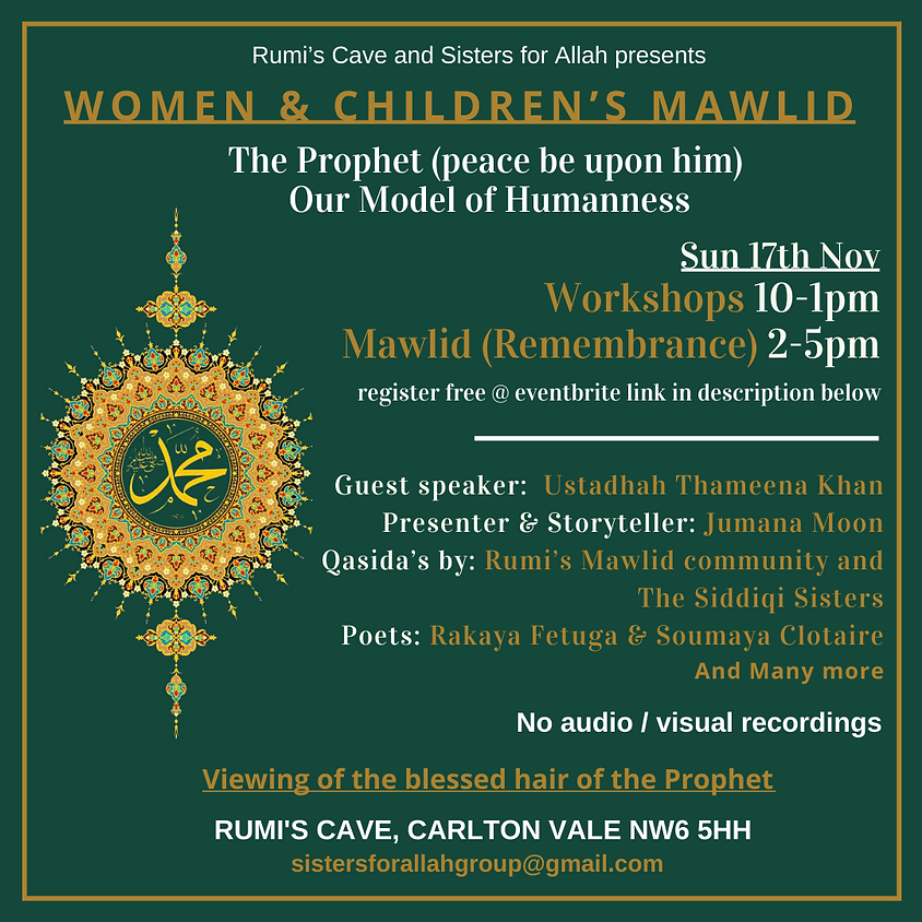 Sisters For Allah & Rumi's Cave Womens & Childrens Mawlid