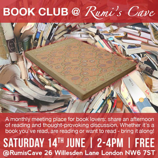 BOOK CLUB @ RUMI'S CAVE / June 2014