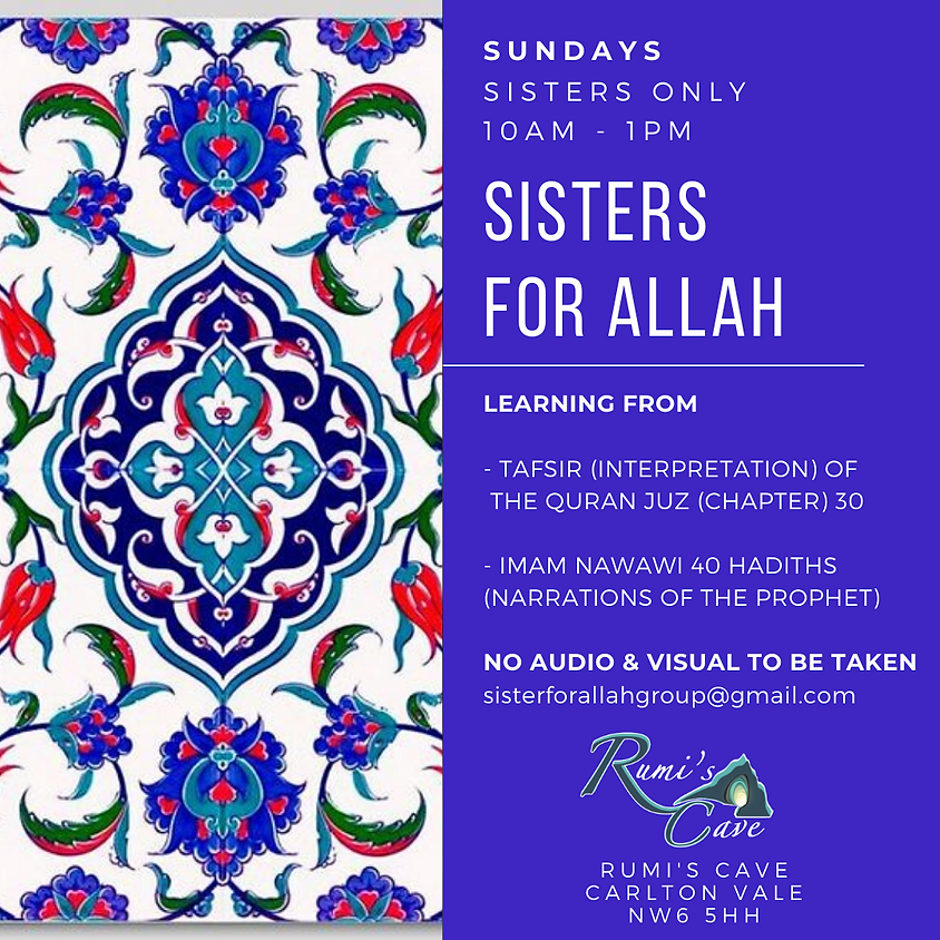 Sisters Classes Every Sunday