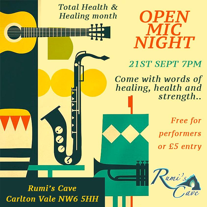 Open Mic Night On Healing & Health