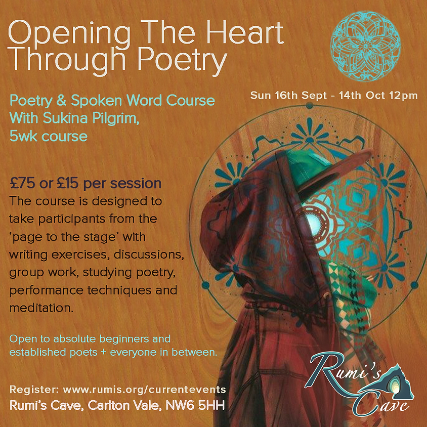 Opening the heart through poetry workshop -Led by Sukina Pilgrim