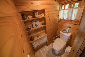 toilet with washlet in the cottage