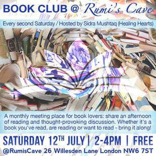 BOOK CLUB @ RUMI'S CAVE / July 2014