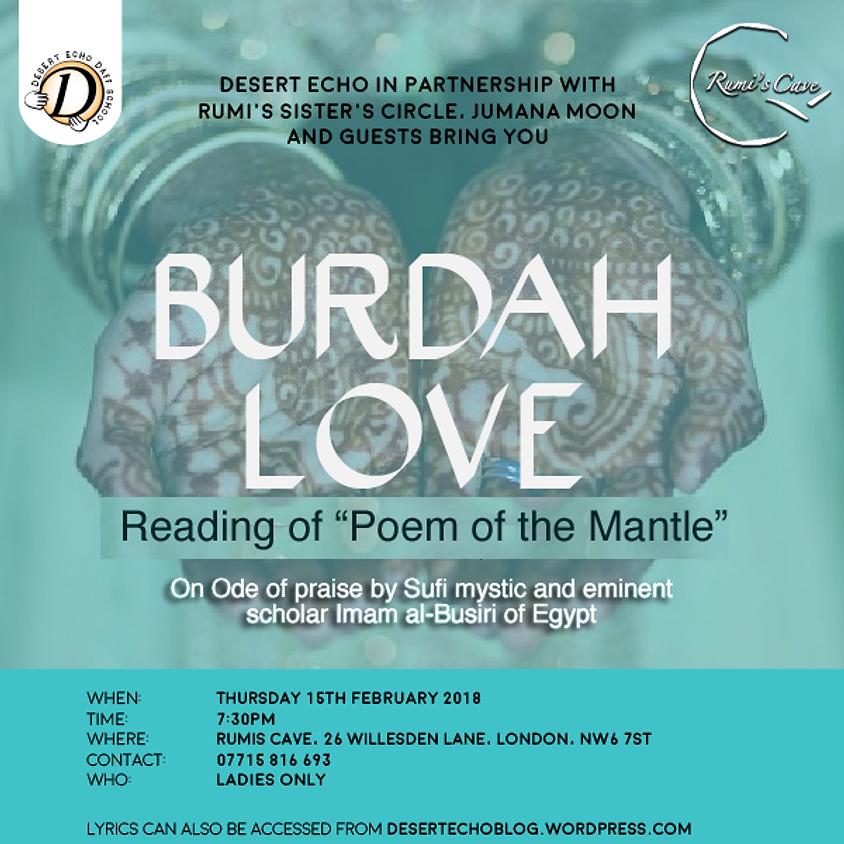 "Burda Love: Reading of ""Poem of the Mantle"""