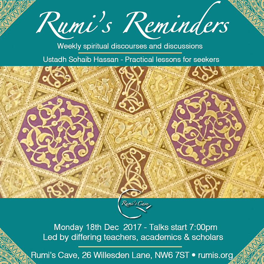 Rumi's Reminders, Sohaib Hassan, Practical lessons for seekers