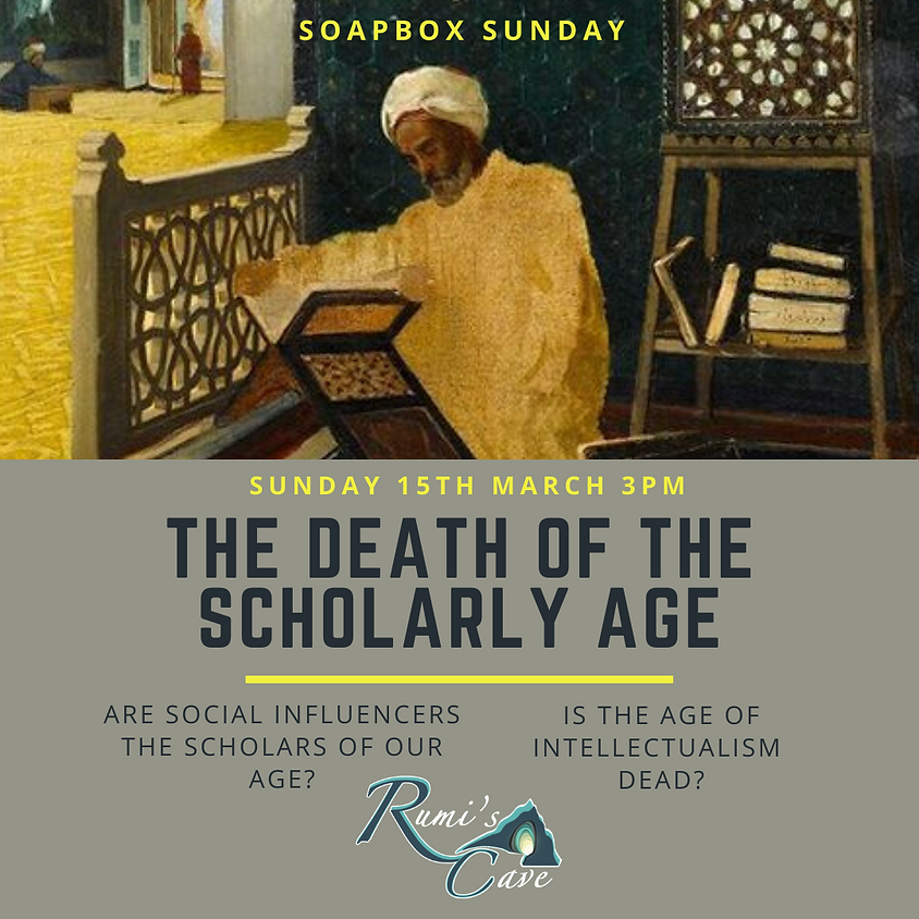 Soapbox Sunday: The death of the scholarly age