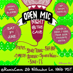OPEN MIC NIGHT @ THE CAVE / JUNE