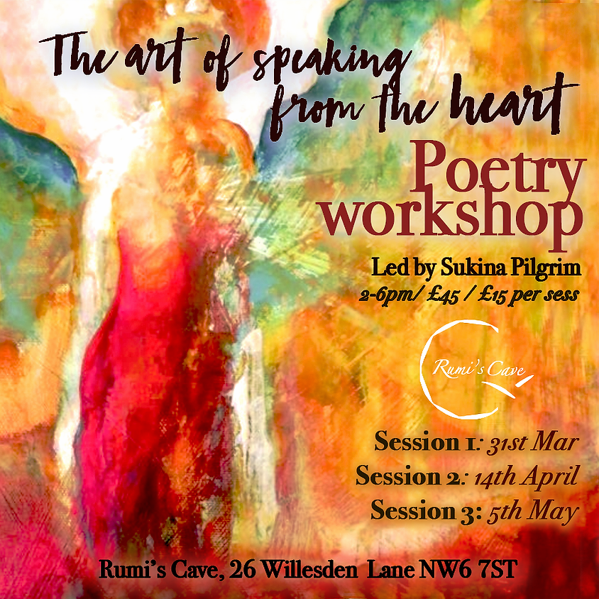 Healing: The art of speaking from the heart, poetry workshop