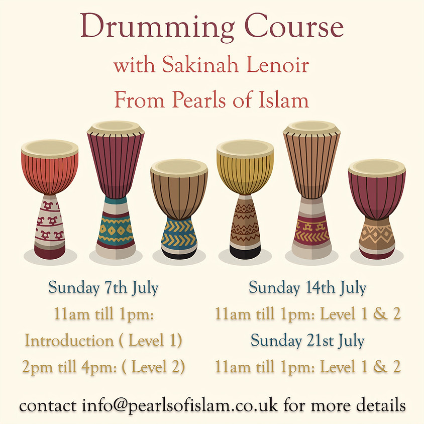 Drumming Course With Sakinah Lenoir
