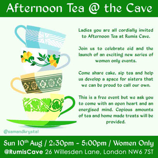 AFTERNOON TEA @ THE CAVE - WOMEN ONLY