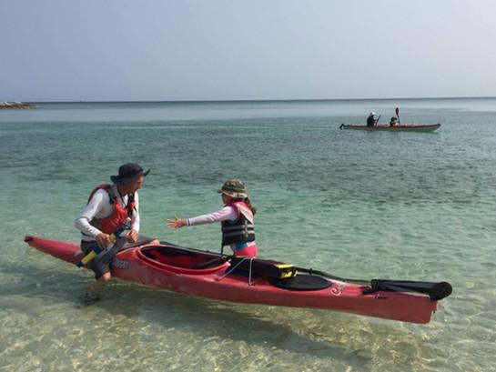 Kayaking in Nakijin with Nik from Padalo