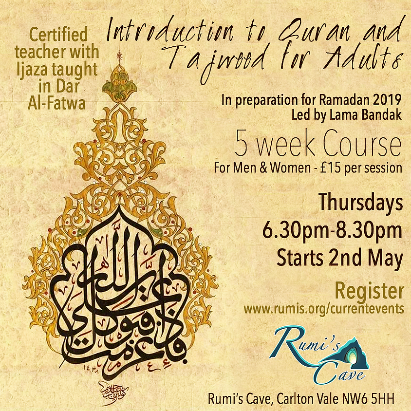 Introduction to Quran and Tajweed for Adults