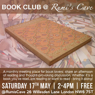 BOOK CLUB @ RUMI'S CAVE / May 2014