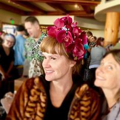 Headdress - Orchids