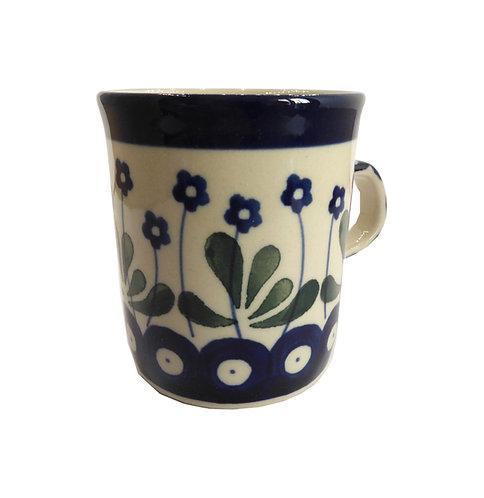 Tasse à café, Boutons bleus