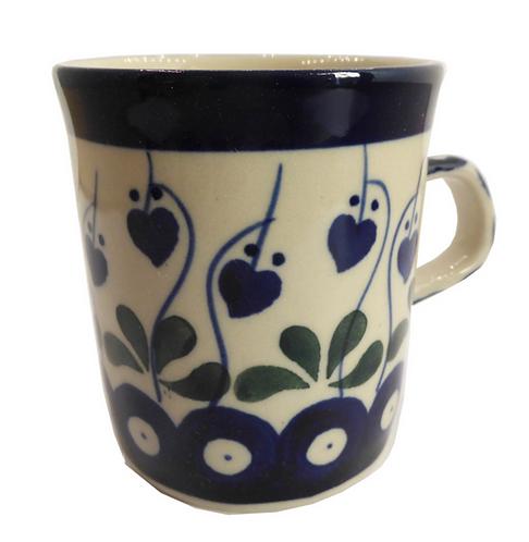 Tasse à café, Coeurs en fleurs