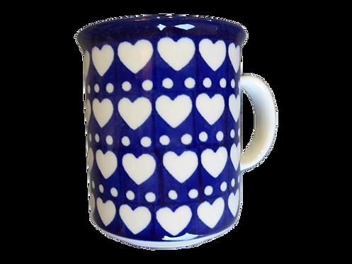 Mug, Bleu blanc coeurs
